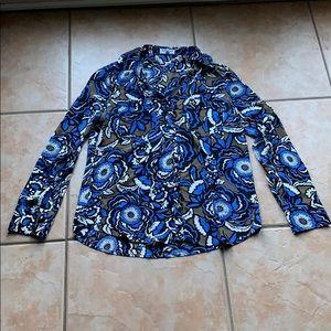 3/$30 Express Floral The Portofino Shirt Medium